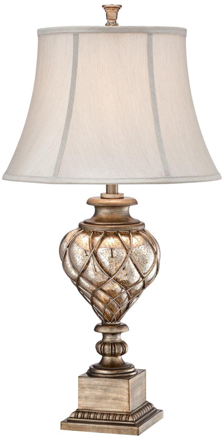 Possini Olde Silver Led Night Light Table Lamp Master