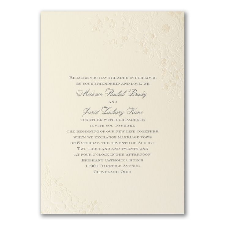 103 best Embossed Wedding Invitations images on Pinterest | Embossed ...