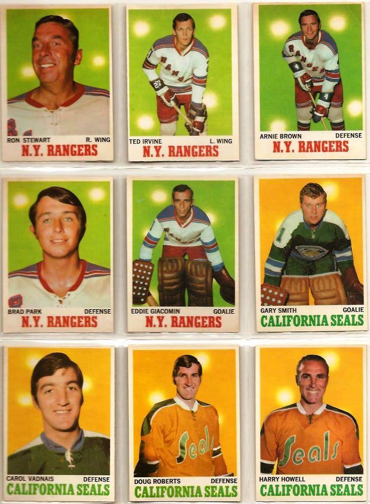 64-72 Ron Stewart. Ted Irwin, Arnie Brown, Brad Park, Ed Giacomin, Gary Smith…