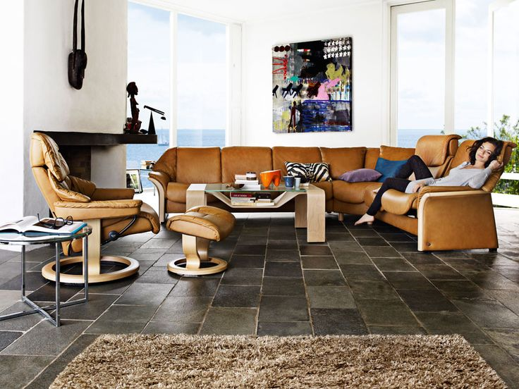 Details About Stressless Pegasus Sofa With Floor Tiles