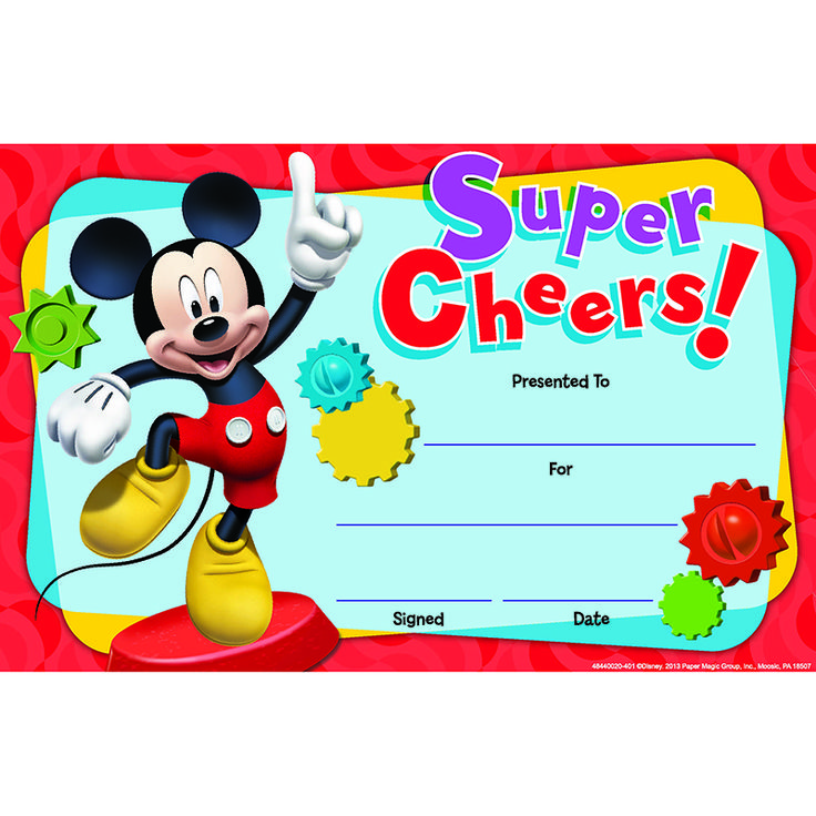MICKEY MOUSE CLUBHOUSE SUPER CHEERS RECOGNITION AWARDS (eu844002)