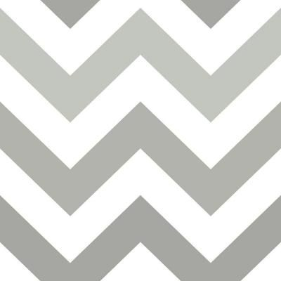 NuWallpaper 30.75 sq. ft. Grey Zig Zag Peel and Stick Wallpaper-NU1934 - The Home Depot