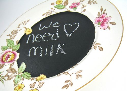 chalkboard message center to jot down your grocery list or a sweet message for a loved one