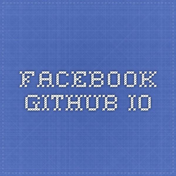 facebook.github.io