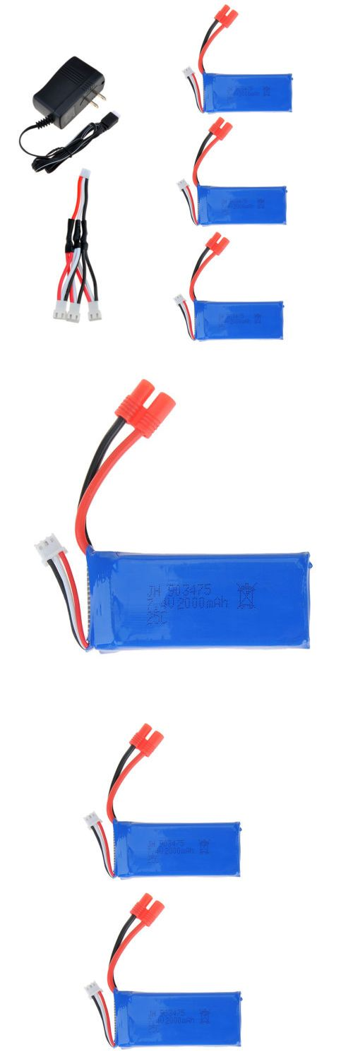 Portable Urinals and Bed Pans: 3Pcs 7.4V 2000Mah Lipo Battery+Power Charger For Syma X8w X8c Rc Quadcopter BUY IT NOW ONLY: $37.89