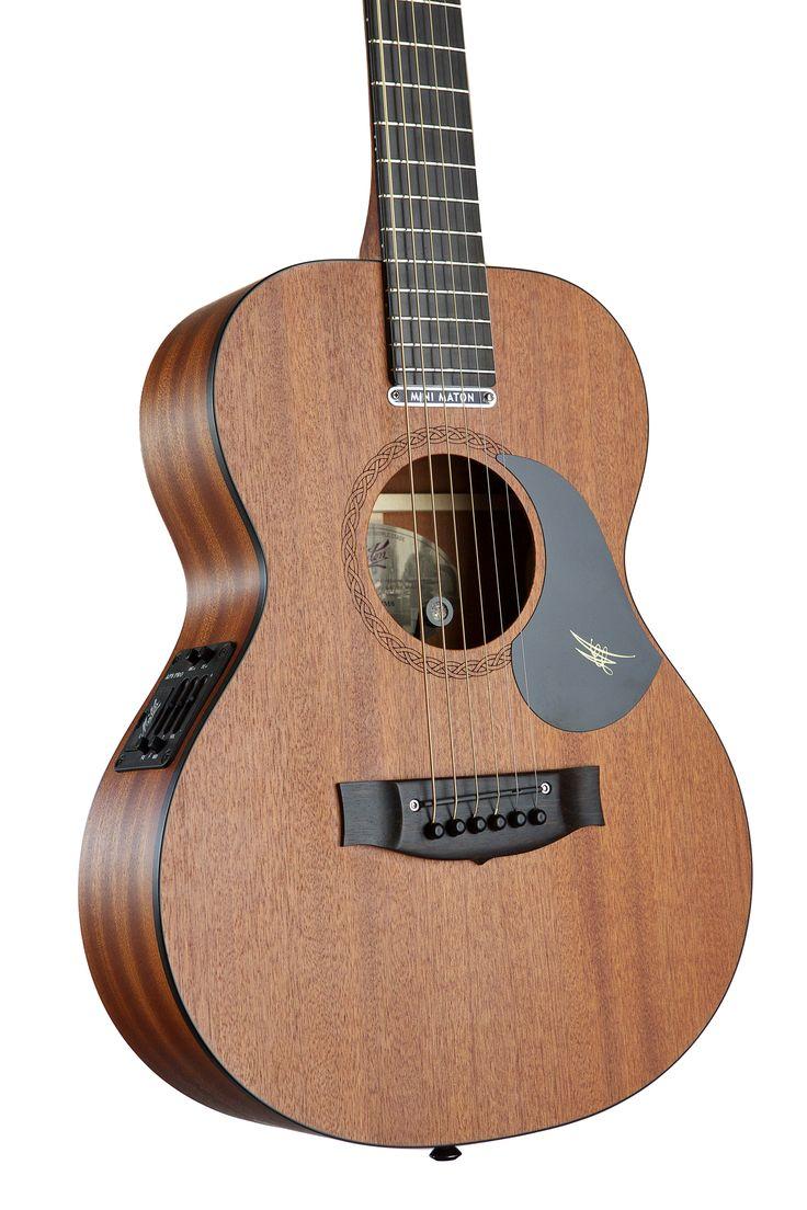 Australian, Handmade, Acoustic Mahogany Mini from Maton Guitars. Body Close-up.