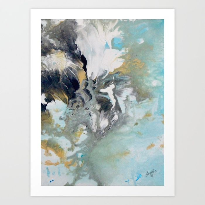 Abstract B3 Art Print by sophie_lemieux | Society6