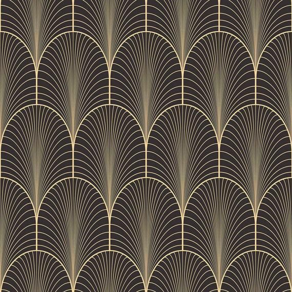 Black Arch Peel And Stick Removable Wallpaper 9934 Etsy Art Deco Wallpaper Art Deco Pattern Pattern Wallpaper