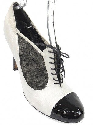 Moschino Cheap & Chic Shoes – White Lace-Up Booties « Clothing Impulse