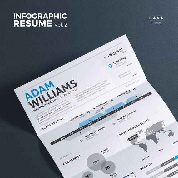 #Infographic #Resume Vol.2  #Word #Indesign and by #TheResumeCreator