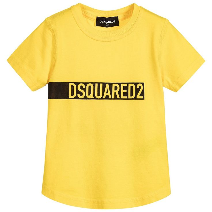 Dsquared2 Boys Yellow Logo T-shirt | New Collection
