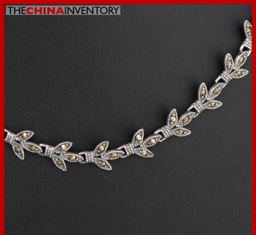 16.5` 925 STERLING SILVER MACARSITES CHOKER SIL2210