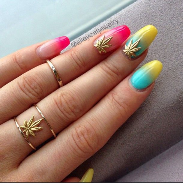 The 25 best weed nails ideas on pinterest long nails matt weed leaf nail stickers decals and charms from shopstaywild nails weed nails prinsesfo Gallery