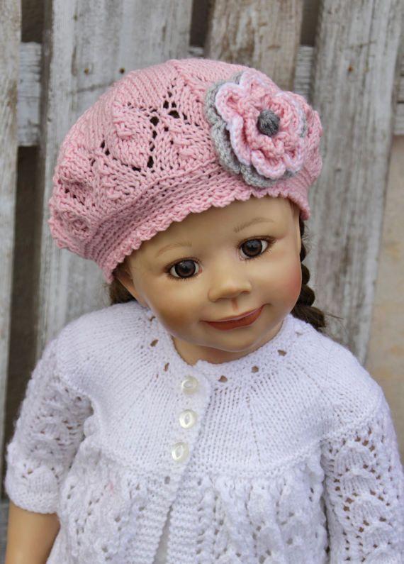 Knit Girls HatToddler hats girls Kids Hat Childs Hat by Degra2