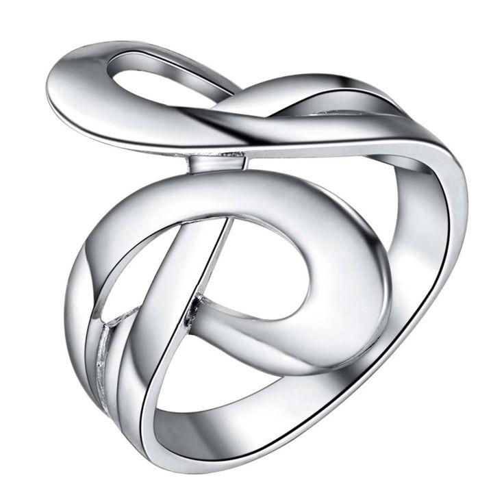 bling shiny Silver plated Ring Fashion Jewerly Ring Women&Men , /KPHUWPAT SBQNRMBW
