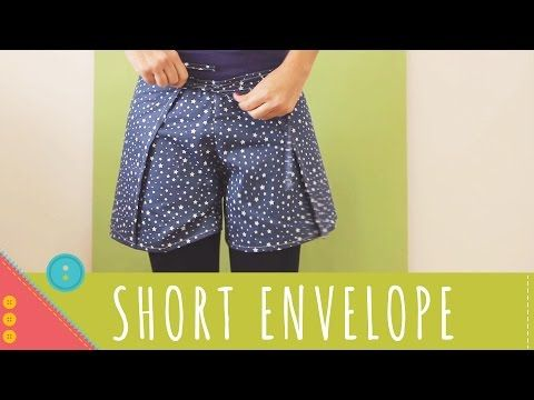 Descomplica! Aprenda a costurar um short envelope de amarrar - YouTube