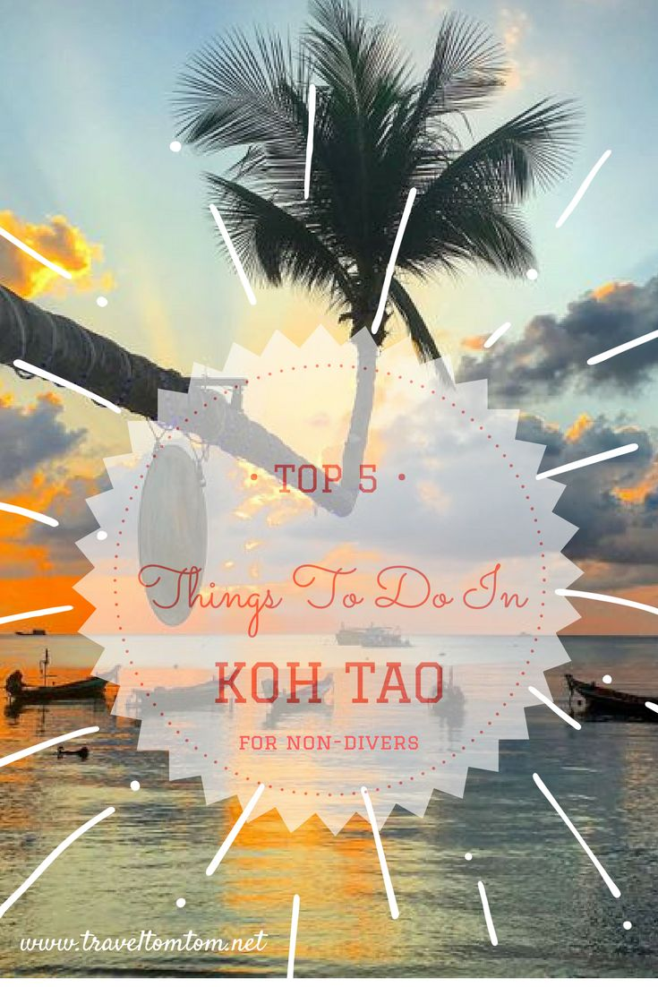 Non-diver? Perfect! Go out and explore the island with these amazing things to do in Koh Tao you wont get bored at all! Dont get stuck watching sunsets on Sairee Beach there are many more and dont forget to explore the other side of the island as well!