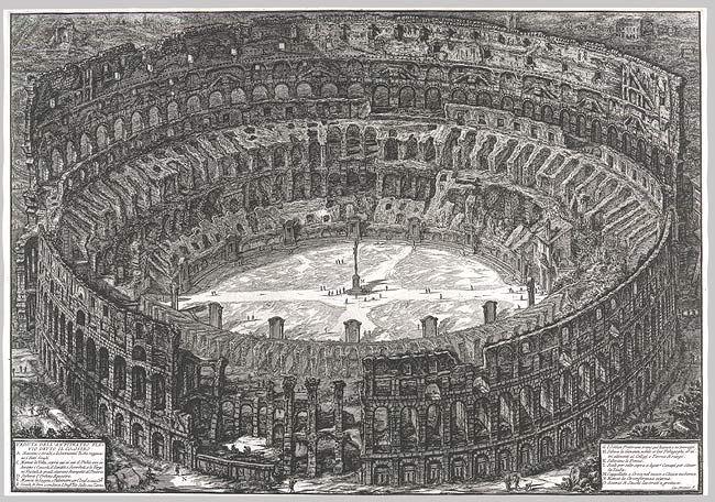 Piranesi, 1776, View of te Colosseum