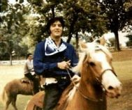 Elvis and his horse Rising Sun...The barn soon came to be known as Hous of the Rising Sun....