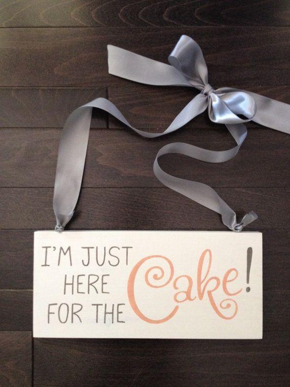 I'm Just Here for the Cake Ring-bearer/Flower by IzzyBVintageMe