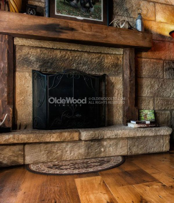 17 best ideas about rustic fireplace mantels on pinterest for Wood fireplace surround designs