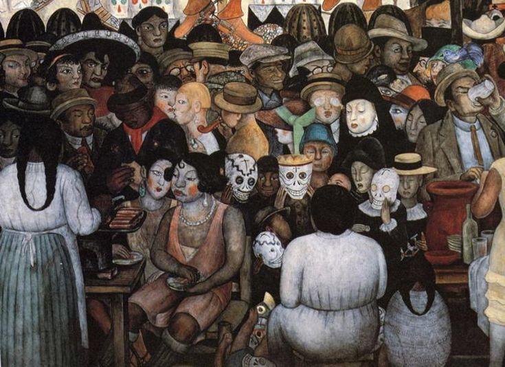 D a de los muertos por diego rivera paintings by for Diego rivera mural dia