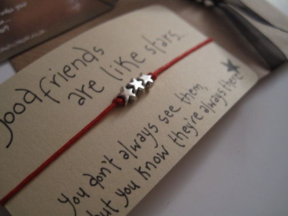 Friends are like Stars...Wish String Bracelet... on Etsy, £4.95