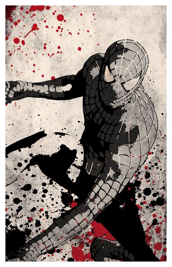 Superhero Trilogy Poster Set, Spiderman, Batman, Superman