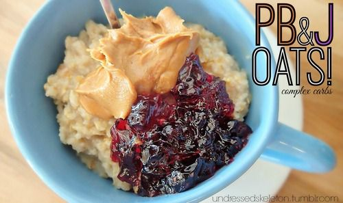 Go-To Breakfast For Running: Pb & J Oats! – Simply Taralynn i am eating this right now its amazing