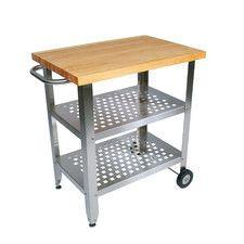 Cucina Americana Avanti Kitchen Cart with Wood Top