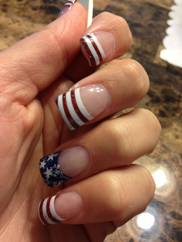 These might be my DC nails! 4th of July nails