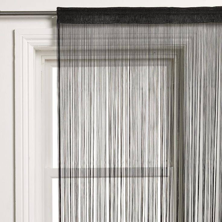 Buy John Lewis String Curtain Panel, Black online at JohnLewis.com - John Lewis £35 each panel