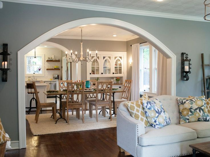 Open up the wall between main room and kitchen with an - Kitchen living room color combinations ...