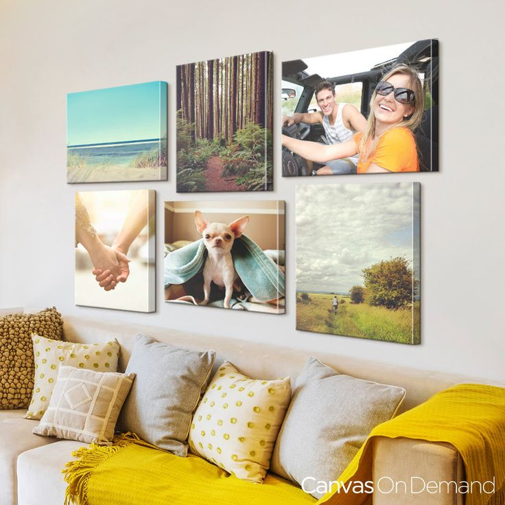Create a travel photo gallery wall with your own travel photos turned into canvases. Start your order at CanvasOnDemand.com