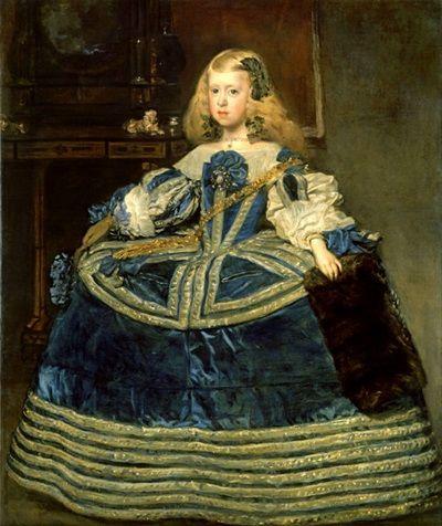 Infanta Margarita Teresa in een Blauwe Kleding