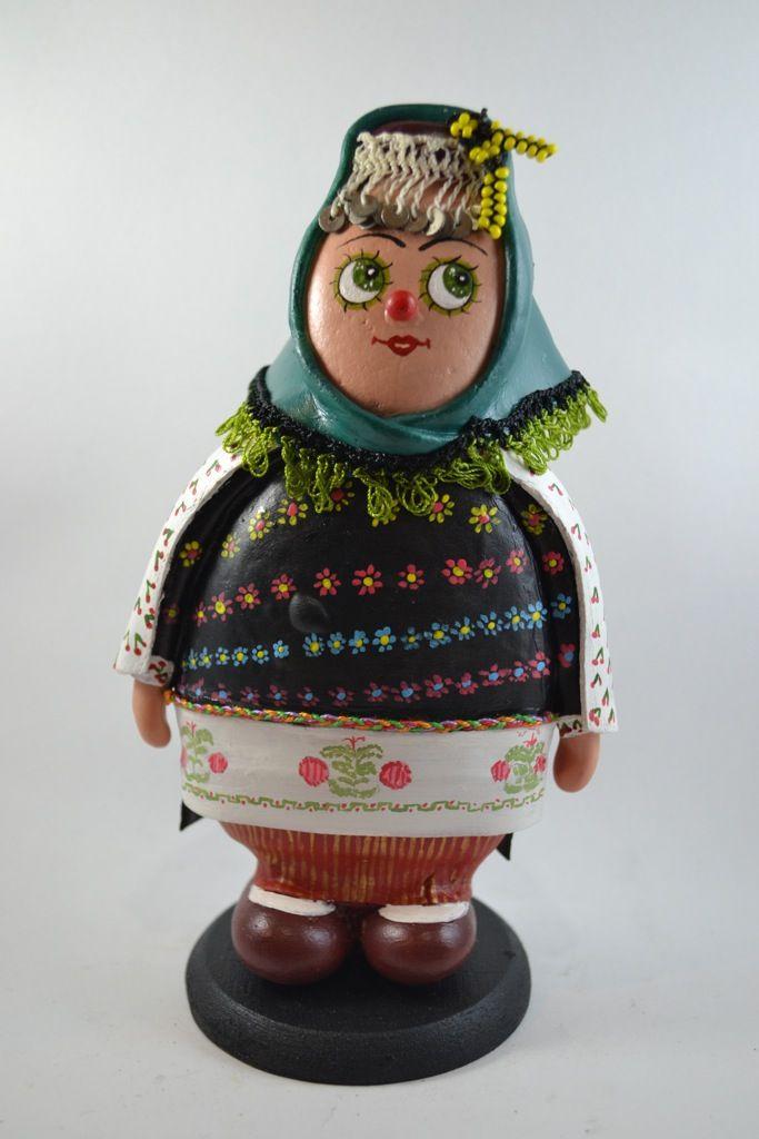 Gaziantep Yöresi Geleneksel Kıyafetli Taş Bebek
