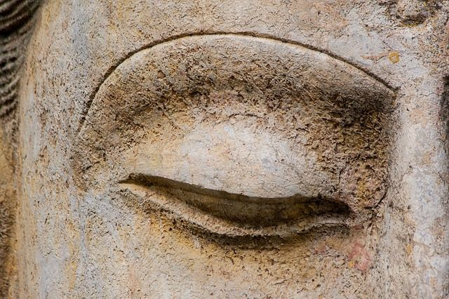 Ojo, El Arte, Asia, Buda, Escultura, La Figura, Deidad