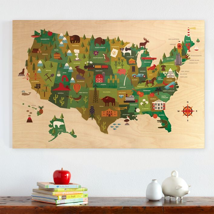 Best Maps Images On Pinterest Vintage Maps Antique Maps And - Us jigsaw map wood