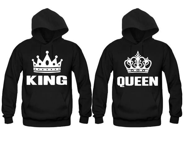 King and Queen Unisex Couple Matching Hoodies | DA LEOS Custom T-Shirts