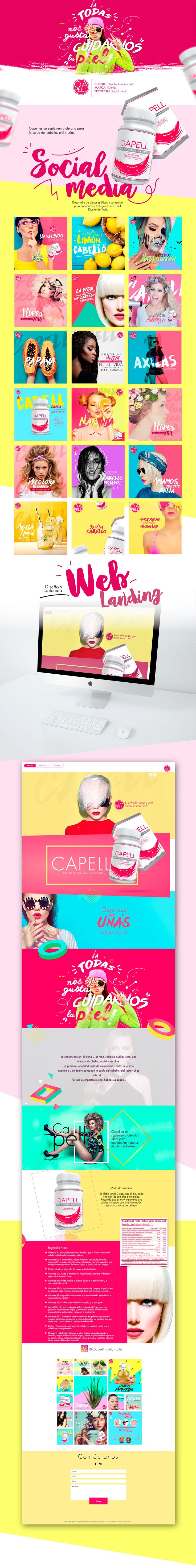 Capell Skin Hair and Nails - Social media & Design on Behance