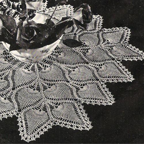 Square Pineapple Centerpiece Crochet Pattern Square