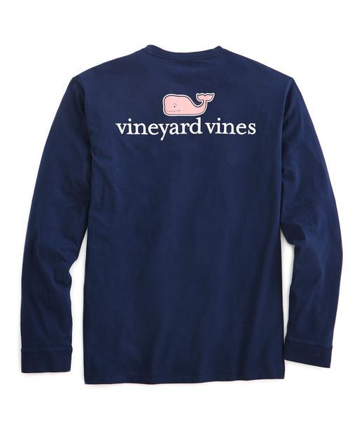 Mens T-Shirts: Long-Sleeve vineyard vines Logo Graphic T-Shirt - Vineyard Vines