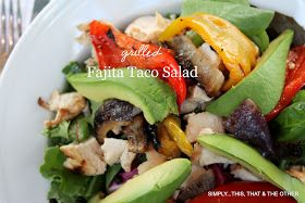 Scott's Firehouse Grilled Fajita Taco Salad - legitimate fajita recipe too plus a Serrano cream sauce