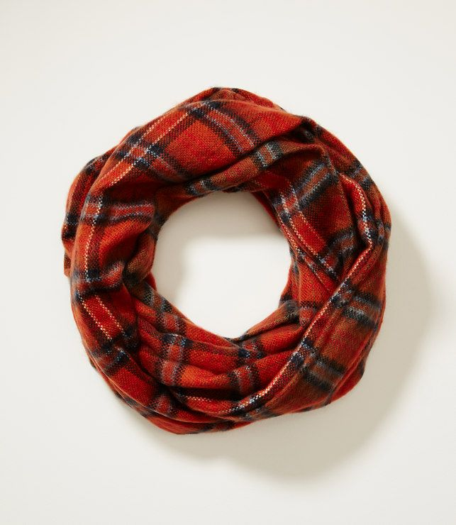 Plaid Infinity Scarf-Super soft and great colors!