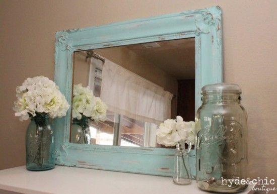 Etsy Shabby Chic Decor Distressed Large Mirror