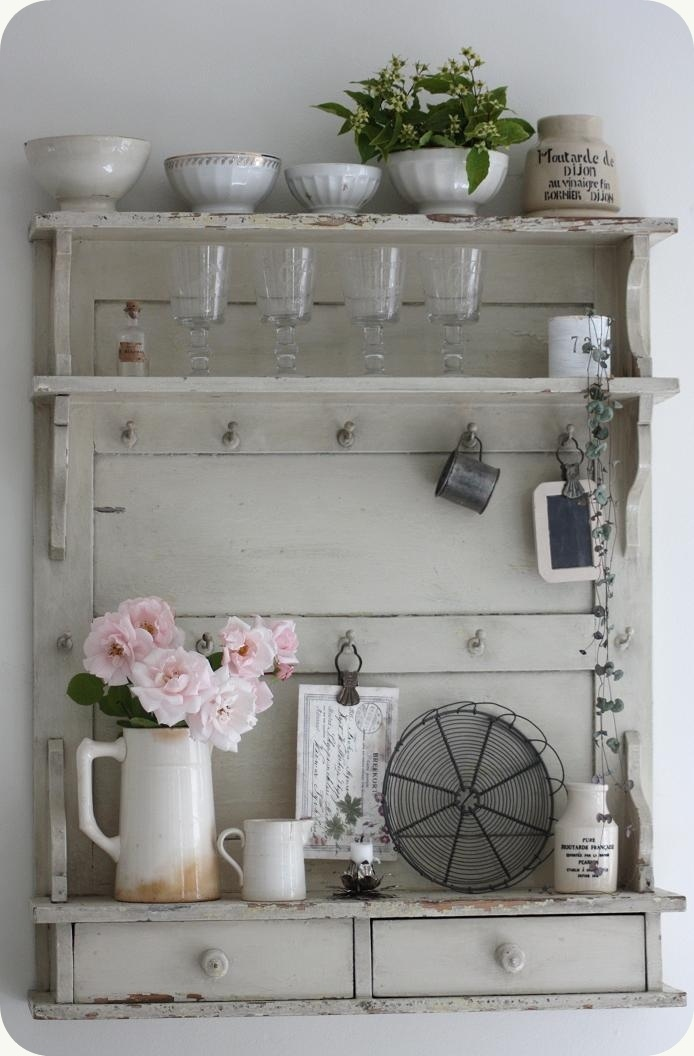Shelves: Decor, Small,  Blank, Shabby Chic, Wall Shelves, Country Kitchens, French Shelf, Rustic Ideas, Kitchens Cabinets, White Kitchens