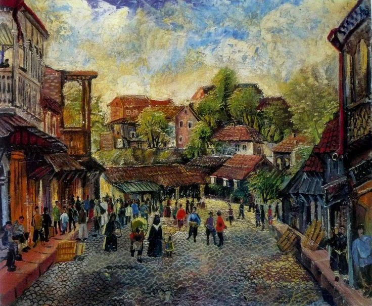 Elene Akhvlediani (1898-1975) was a 20th century Georgian painter, graphic artist, costume designer and theater decorator.