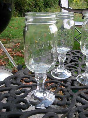 Good instructions on making Redneck Wine Glasses