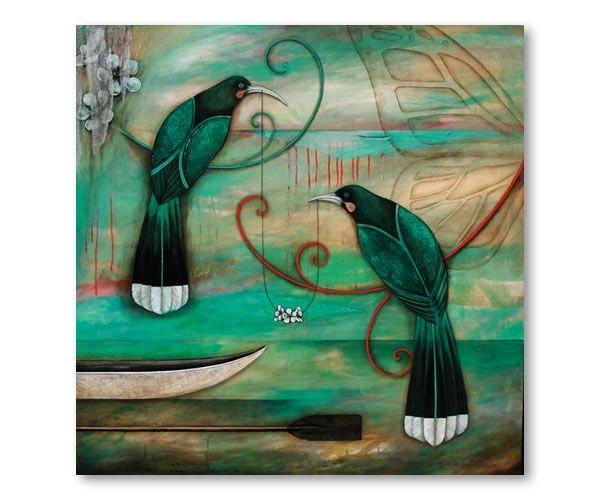 Manuka Chain by Kathryn Furniss Giclee print on canvas $480 90cm x 90cm