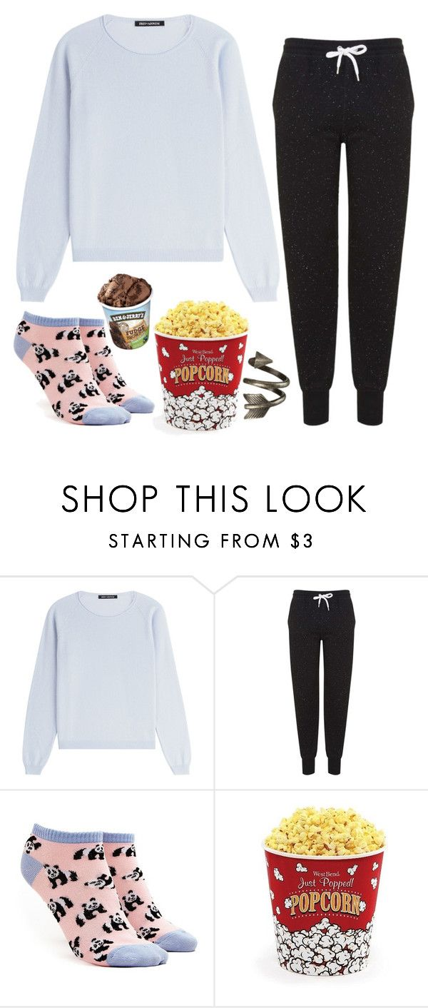 """Movie night...alone..."" by falloutgirl29 ❤ liked on Polyvore featuring IRIS VON ARNIM, Topshop, Forever 21 and West Bend"